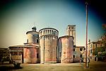 Side view of San Giacomo dell'Orio church, Santa Croce, Venice, Italy