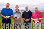 Owen Liston, Denis Murphy, Eddie Ivers, Fintan Ryan at the Mercy Mounthawk Secondary School Golf Classic Fundraiser at Tralee Golf Club on Friday