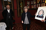 Jonathan Pryce and Dame Eileen Atkins during the Eileen Atkins portrait unveiling at Sardi's on November 15, 2019 in New York City.