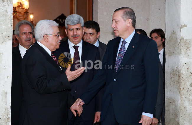 Palestinian President Mahmoud Abbas (Abu Mazen) meets with Turkish Prime Minister Erdogan on June 04, 2012.  Photo by Thaer Ganaim