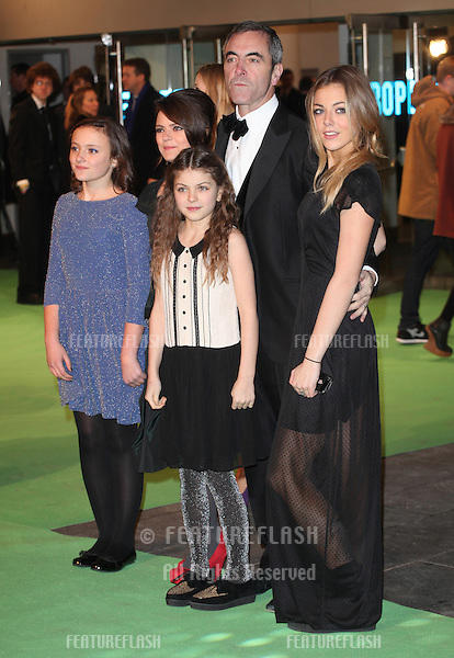 James Nesbitt with his wife Sonia and daughters arriving for The hobbit Premiere, Odeon Leicester Square, London. 12/12/2012 Picture by: Alexandra Glen / Featureflash
