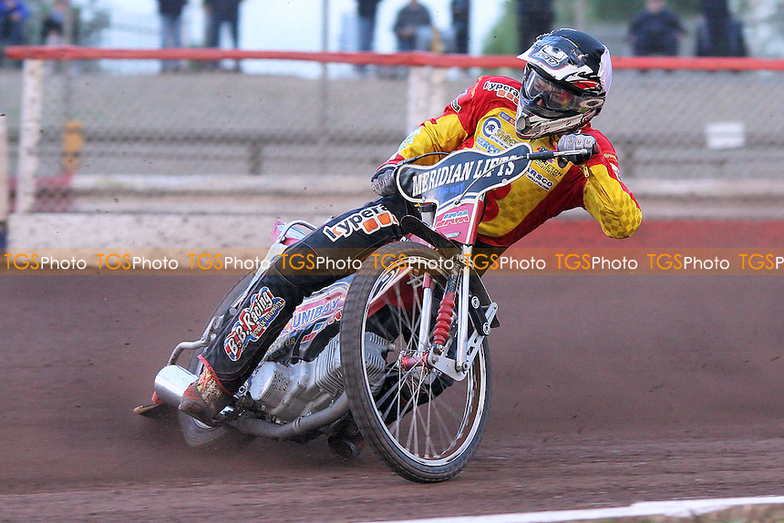 Heat 7: Ulrich Ostergaard of Birmingham - Lakeside Hammers vs Birmingham Brummies - Elite League Knockout Cup at Arena Essex Raceway - 10/06/11 - MANDATORY CREDIT: Gavin Ellis/TGSPHOTO - Self billing applies where appropriate - Tel: 0845 094 6026