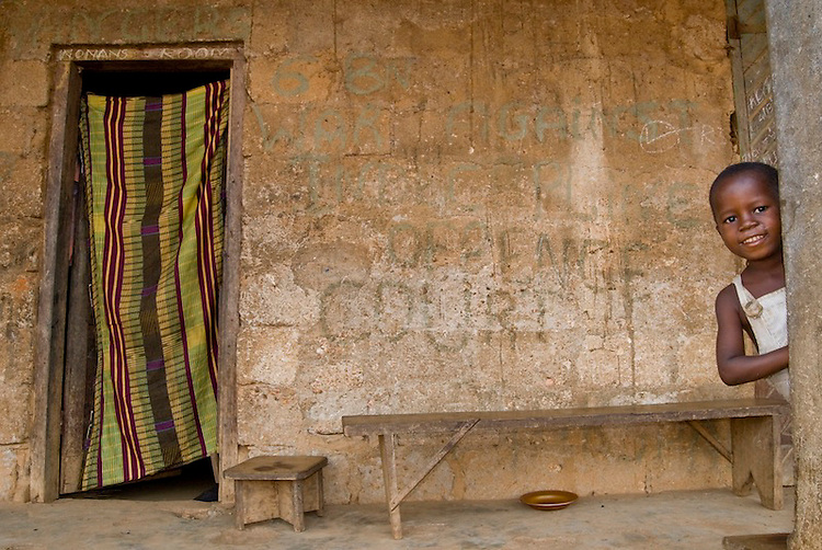 The house that rebel leader Foday Sankoh lived in during the Sierra Leone civil war. Ngiehun, Kailahun District, Sierra Leone.