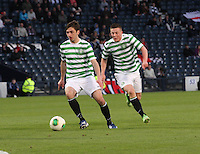 Bahrudin Atajic on the ball with Callum McGregor in the Dunfermline Athletic v Celtic Scottish Football Association Youth Cup Final match played at Hampden Park, Glasgow on 1.5.13. ..
