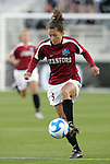 05 December 2008: Stanford's Ali Riley. The Notre Dame Fighting Irish defeated the Stanford Cardinal 1-0 at WakeMed Soccer Park in Cary, NC in an NCAA Division I Women's College Cup semifinal game.