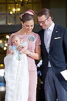 The royal christening of Crown Princess Victoria and Prince Daniel s daughter Princess Estelle Silvia Ewa Mary of Sweden, in the Royal Chapel in Stockholm, May 22, 2012.    Photo: David Sica Code: 1002 COPYRIGHT STELLA PICTURES..Credit: Stella Pictures/face to face..- Germany, Austria, Switzerland and USA rights only - / Mediapunchinc