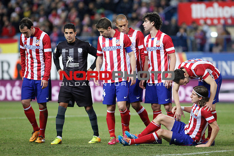 Atletico de Madrid¬¥s  and  Levante¬¥s during La Liga 2013-14 match at Vicente Calderon stadium, Madrid. December 21, 2013. Foto © nph / Victor Blanco)