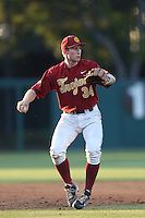 Kevin Swick #34 of the Southern California Trojans during a game against the UC Irvine Anteaters at Dedeaux Field on April 29, 2014 in Los Angeles, California. Stanford defeated Southern California, 6-2. (Larry Goren/Four Seam Images)