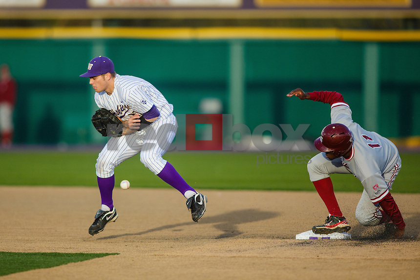 University of Washington Huskies baseball team loses to Stanford University Cardinal at Huskies Baseball Stadium in Seattle Thursday, April 5, 2012. (Photos by Andy Rogers/Red Box Pictures)