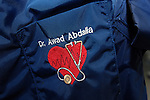 The pocket has been embroidered with the name of the cardiologist (Dr Awad Abdalla). Personalization of protective clothing can be useful in monitoring a staff member's exposure to radiation. Royalty Free