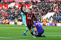 David Brooks of AFC Bournemouth celebrates putting the ball in the net, but was given offside during AFC Bournemouth vs Arsenal, Premier League Football at the Vitality Stadium on 25th November 2018