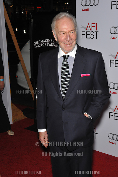 "Christopher Plummer at the AFI Fest premiere of his new movie ""The Imaginarium of Dr. Parnassus"" at Grauman's Chinese Theatre, Hollywood. .November 2, 2009  Los Angeles, CA.Picture: Paul Smith / Featureflash"