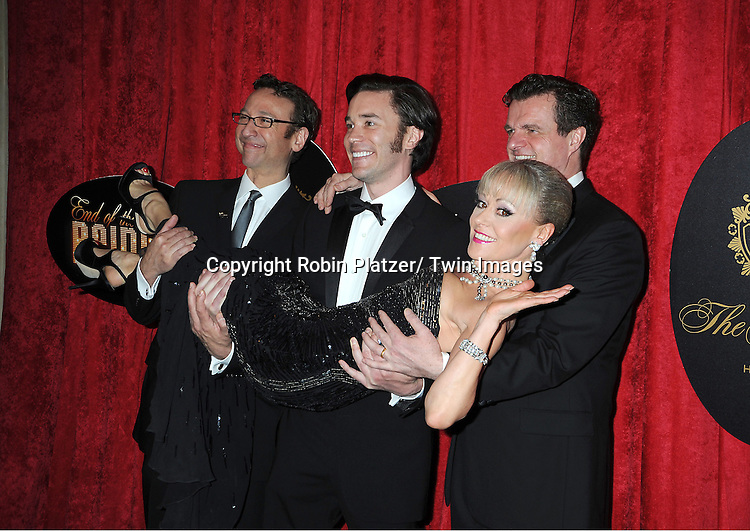 "Jay Russell, Tom Pelphrey, Tracie Bennett and Michael Cumptsey  arrives at the "" End Of The Rainbow"" Broadway opening night party  at The Plaza Hotel  in New York City on April 2, 2012. The show stars Tracie Bennett, Tom Pelphrey, Michael Cumptsy and Jay Russell."