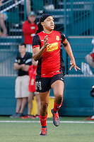 Rochester, NY - Friday July 01, 2016: Western New York Flash forward Jessica McDonald (14) during a regular season National Women's Soccer League (NWSL) match between the Western New York Flash and the Chicago Red Stars at Rochester Rhinos Stadium.