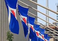 Toronto (ON) CANADA - July 2012 - flags of Toronto City Hall