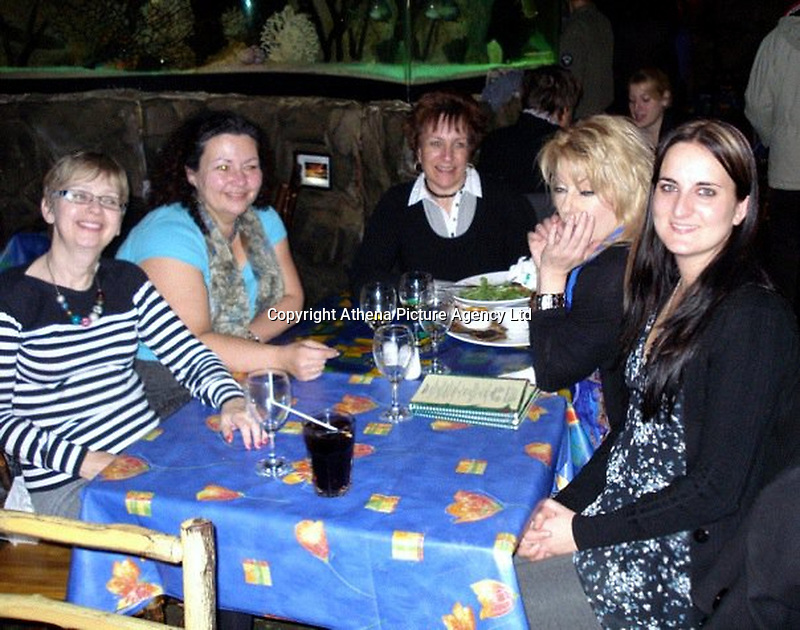 """Pictured: Jean Wilson (2nd L)<br /> Re: Managing director Jean Wilson stole £50,000 from the recruitment company she worked for to pay for a gastric band operation and a luxury £10,000 holiday.<br /> Wilson, who lived in a rented mansion, also blew cash on paying for vets' bills, dog sitters, and dog groomers in a """"sophisticated"""" scam.<br /> The 58-year-old appeared at Cardiff Crown Court on Tuesday after she had previously pleaded guilty to fraud by abuse of position.<br /> The defendant had held the position of managing director at Axcis Education Recruitment, now known as RO Education Ltd, for five years before her embezzlement was discovered and had spent 10 years at the company in total."""