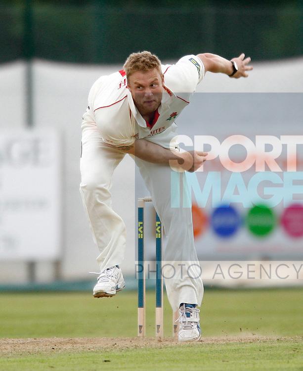 Lancashire's Andrew Flintoff in action