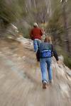 Dayhikers on Mt. Lemmon, in the Santa Catalina Mountains, Coronado National Forest, Arizona