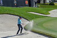 Henrik Stenson (SWE) hits from the trap on 18 during round 1 of the Arnold Palmer Invitational at Bay Hill Golf Club, Bay Hill, Florida. 3/7/2019.<br /> Picture: Golffile | Ken Murray<br /> <br /> <br /> All photo usage must carry mandatory copyright credit (&copy; Golffile | Ken Murray)