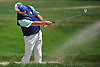 Craig Thomas hits out of a bunker on the 3rd Hole Hole of Garden City Country Club during the Polo / Ralph Lauren Metropolitan PGA Head Professional Championship on Wednesday, May 30, 2018.