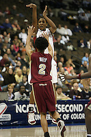 20 March 2006: Candice Wiggins makes a clutch three-pointer during Stanford's 88-70 win over Florida State in the second round of the NCAA Women's Basketball championships at the Pepsi Center in Denver, CO.