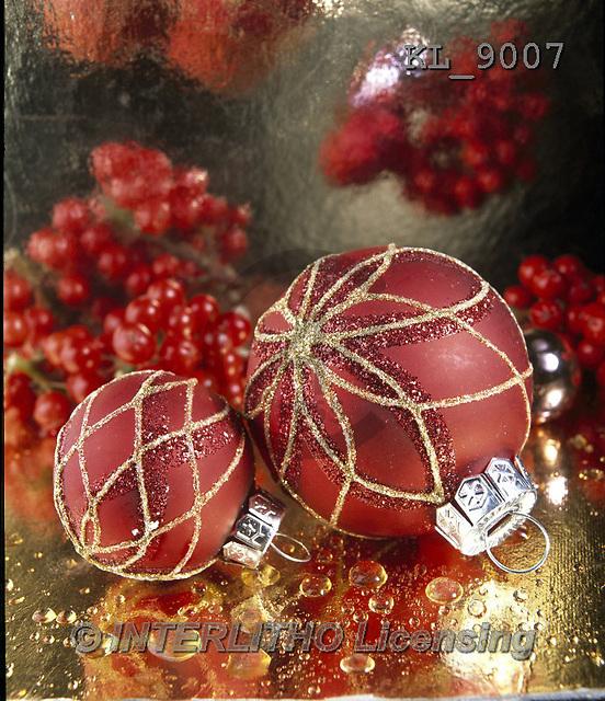 Interlitho, CHRISTMAS SYMBOLS, WEIHNACHTEN SYMBOLE, NAVIDAD SÍMBOLOS, photos+++++,2 red balls,red berries,KL9007,#xx#