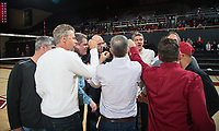 STANFORD, CA - March 2, 2019: 1989 Team at Maples Pavilion. The Stanford Cardinal defeated BYU 25-20, 25-20, 22-25, 25-21.