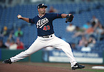 Reno Aces' Garrett Mock pitches against the Las Vegas 51s in a Triple-A baseball game, in Reno, Nev., on Sunday, July 21, 2013. The 51s won 15-8.<br /> Photo by Cathleen Allison