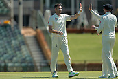 November 5th 2017, WACA Ground, Perth Australia; International cricket tour, Western Australia versus England, day 2; James Anderson celebrates getting the wicket of Nick Hobson for 19