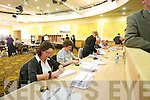at the North Kerry, West Limerick Election 2011 count at the Brandon Hotel Tralee on Saturday.