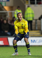 Kemar Roofe of Oxford United calls out in frustration during the Sky Bet League 2 match between Oxford United and Northampton Town at the Kassam Stadium, Oxford, England on 16 February 2016. Photo by Andy Rowland.