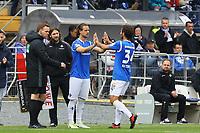 Yannick Stark (SV Darmstadt 98) kommt fuer Hamit Altintop (SV Darmstadt 98) - 28.10.2017: SV Darmstadt 98 vs. Holstein Kiel, Stadion am Boellenfalltor, 2. Bundesliga