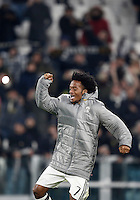 Calcio, Serie A: Torino, Juventus Stadium, 5 febbraio 2017.<br /> Juventus' Juan Cuadrado celebrates at the end of the Italian Serie A football match between Juventus and Inter Milan at Turin's Juventus Stadium, on February 5, 2017.<br /> UPDATE IMAGES PRESS/Isabella Bonotto