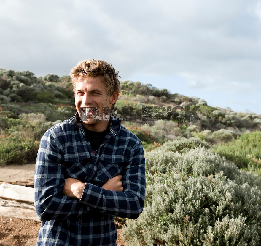 Australian Yadin Nicols at the Margaret River carpark in western australia.