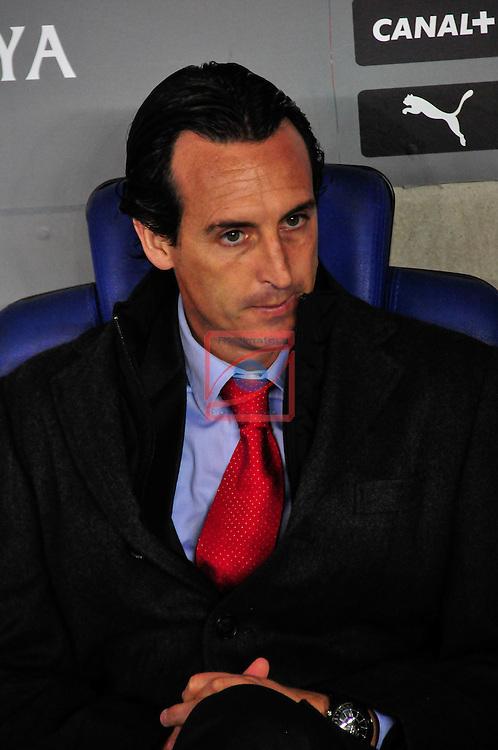 Copa del Rey 2014/2015. 1/4 Final Ida.<br /> RCD Espanyol vs Sevilla FC: 3-1.<br /> Unai Emery.