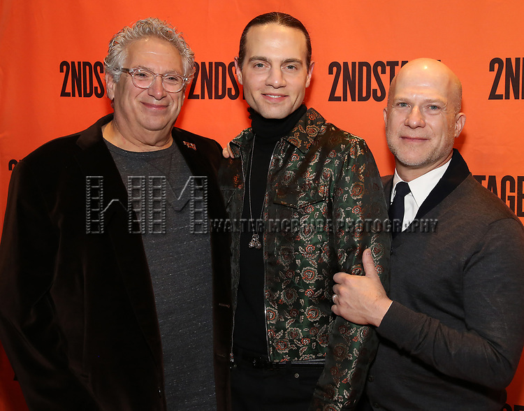 Harvey Fierstein, Jordan Roth and Richie Jackson attends the Off-Broadway Opening Night performance of the Second Stage Production on 'Torch Song'  on October 19, 2017 at Tony Kiser Theater in New York City.