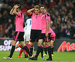 Dejection from Christophe Berra of Scotland following the England second goal during the FIFA World Cup Qualifying Group F match at Wembley Stadium, London. Picture date: November 11th, 2016. Pic David Klein/Sportimage