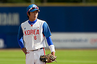 14 September 2009: Kyoung-Min Hur of South Korea is seen during the 2009 Baseball World Cup Group F second round match game won 15-5 by South Korea over Great Britain, in the Dutch city of Amsterdan, Netherlands.