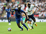 Tottenham's Victor Wanyama tussles with Chelsea's Tiemoue Bakayoko during the premier league match at the Wembley Stadium, London. Picture date 20th August 2017. Picture credit should read: David Klein/Sportimage