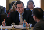 Nevada Secretary of State Ross Miller works in a Board of Examiners meeting at the Capitol in Carson City, Nev., on Tuesday, Feb. 12, 2013..Photo by Cathleen Allison