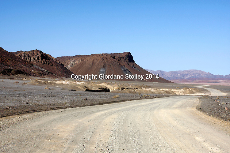 AIS AIS - 28 June 2014 - Striking desert landscape features can be seen in southern Namibia on the D316 road, not far from the popular Ais Ais resort in the Fish River Canyon. Picture: Allied Picture Press/APP