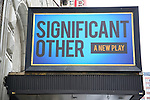 Theatre Marquee unveiling for 'Significant Other', a new play by Joshua Harmon at the Booth Theatre on January 12, 2017 in New York City.