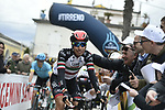 Fabio Aru (ITA) UAE Team Emirates arrives at sign on before the start of Stage 6 of the 53rd edition of the Tirreno-Adriatico 2018 running 153km from Numana to Fano, Italy. 12th March 2018.<br /> Picture: LaPresse/Fabio Ferrari | Cyclefile<br /> <br /> <br /> All photos usage must carry mandatory copyright credit (&copy; Cyclefile | LaPresse/Fabio Ferrari)