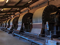 Luftgebläse in der Kraftzentrale, Rammelsberg, Museum und Besucherbergwerk, Goslar, Niedersachsen, Deutschland, Europa, UNESCO-Weltkulturerbe<br /> Turbines for aircondition, Rammelsberg - Museum and show mine, Goslar, Lower Saxony,, Germany, Europe, UNESCO Heritage Site