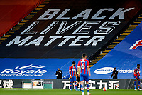 29th June 2020; Selhurst Park, London, England; English Premier League Football, Crystal Palace versus Burnley Football Club; A Giant Black Lives Matter banner in the Holmesdale Stand