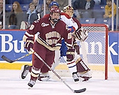 Tim Filangieri (Bobby Robins, Cory Schneider) - The Boston College Eagles defeated the University of Massachusetts-Lowell River Hawks 4-3 in overtime on Saturday, January 28, 2006, at the Paul E. Tsongas Arena in Lowell, Massachusetts.