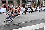 06.07.2019,  Innenstadt, Hamburg, GER, Hamburg Wasser World Triathlon, Elite Mainner, im Bild die Triathleten auf dem Fahrrad auf der Moenckebergstrasse Foto © nordphoto / Witke *** Local Caption ***