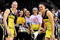Pulse&rsquo; Katrina Rore and Pulse&rsquo; Sulu Fitzpatrick, ANZ Premiership - Pulse v Stars at TSB Arena, Wellington, New Zealand on Monday 13 May 2019. <br /> Photo by Masanori Udagawa. <br /> www.photowellington.photoshelter.com