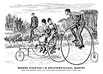 Modern Athletics. - A Diplotribicyclical Quartet. How this drawing would have astonished our readers twenty years ago!