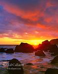 Sunset, Slide Beach, Golden Gate National Recreation Area, Marin County, California